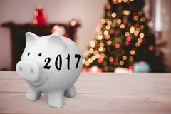 Image composée d'image numérique de la nouvelle année 2017 Image libre de droits