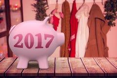 Image composée d'image numérique de la nouvelle année 2017 Photo stock