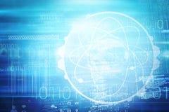 Image composée d'image d'interface d'atome illustration de vecteur