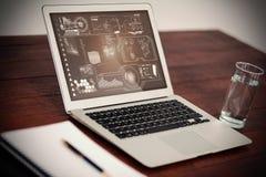 Image composée d'interface de technologie Photographie stock libre de droits
