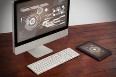 Image composée d'interface de technologie Photo stock