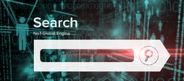 Image composée d'image composée numérique de page de moteur de recherche Photo stock