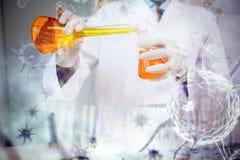 Image composée d'image numérique de virus bleu Photos libres de droits
