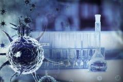 Image composée d'image numérique de virus bleu Photos stock