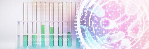 Image composée d'image numérique d'interface d'ADN illustration libre de droits