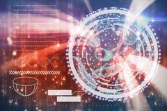 Image composée d'image numérique d'interface d'ADN illustration de vecteur