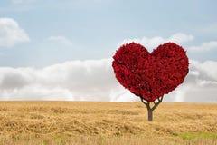 Image composée d'usine de coeur d'amour Image stock