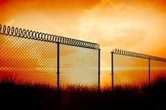Image composée de barrière de chainlink sur le fond blanc 3d Photographie stock libre de droits