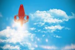 Image composée de bateau rouge d'espace chromatique Image libre de droits