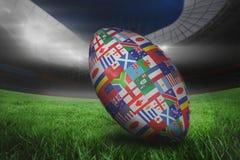 Image composée de boule d'international de coupe du monde de rugby Photos stock