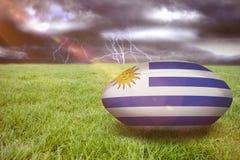 Image composée de boule de rugby de l'Uruguay Photo libre de droits