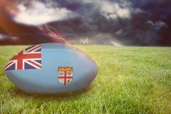 Image composée de boule de rugby du Fiji Images stock