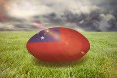 Image composée de boule de rugby du Samoa Photo stock