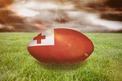 Image composée de boule de rugby du Tonga Image libre de droits