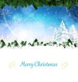 Image composée de carte de Noël Photographie stock libre de droits