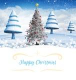 Image composée de carte de Noël Images libres de droits