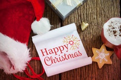 Image composée de carte de Noël Image stock