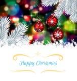 Image composée de carte de voeux de Noël Photographie stock libre de droits