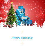 Image composée de carte de voeux de Noël Image stock