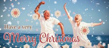 Image composée de carte de Noël images stock
