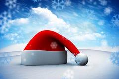Image composée de chapeau de Santa Photos stock