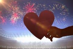 Image composée de coeur Photographie stock libre de droits