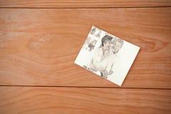 Image composée de coeur de rouge d'enveloppe Photos stock