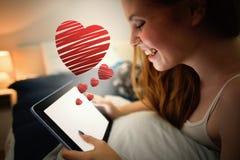 Image composée de coeur rouge photographie stock libre de droits