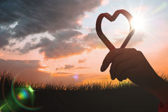 Image composée de coeur rouge d'amour Photos stock