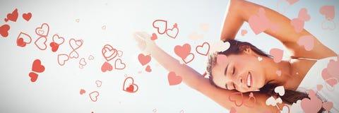 Image composée de conception de coeur de valentines image libre de droits