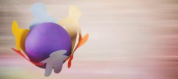 Image composée de couleur multiple de petite personne illustration de vecteur