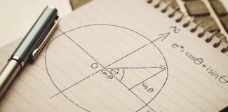Image composée de diagramme sur le fond noir illustration de vecteur