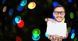 Image composée de Digital de ballot se dirigeant à la plaquette contre les lumières colorées illustration libre de droits