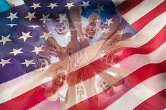 Image composée de drapeau américain cultivé Photographie stock