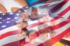 Image composée de drapeau de ondulation de l'Amérique Images stock