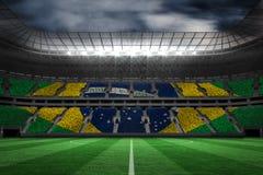 Image composée de drapeau national brésilien digitalement produit illustration stock