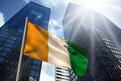 Image composée de drapeau national de la Côte d'Ivoire illustration stock