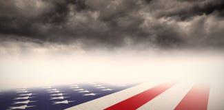 Image composée de drapeau national des Etats-Unis illustration de vecteur