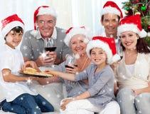 Image composée de famille heureuse Photographie stock