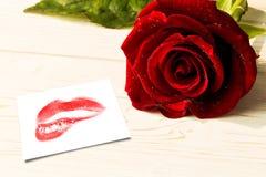 Image composée de fin d'extrémité sur les lèvres rouges magnifiques Photo libre de droits