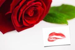 Image composée de fin d'extrémité sur les lèvres rouges magnifiques Photos stock