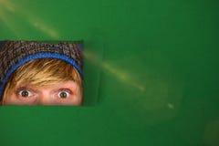 Image composée de fin de demi visage de l'homme 3d de hippie Image stock