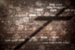 Image composée de fin de la croix 3d en bois Photos libres de droits