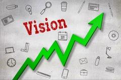 Image composée de fin de texte de vision Image stock