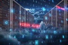 Image composée de fond de virus Image libre de droits