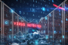 Image composée de fond de virus Photographie stock libre de droits