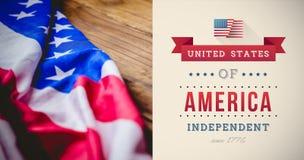 Image composée de graphique de Jour de la Déclaration d'Indépendance Photo stock