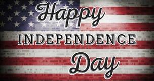 Image composée de graphique de Jour de la Déclaration d'Indépendance Image stock
