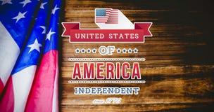 Image composée de graphique de Jour de la Déclaration d'Indépendance Images stock
