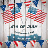 Image composée de graphique de Jour de la Déclaration d'Indépendance Photographie stock